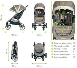baby jogger city mini 4 plegado